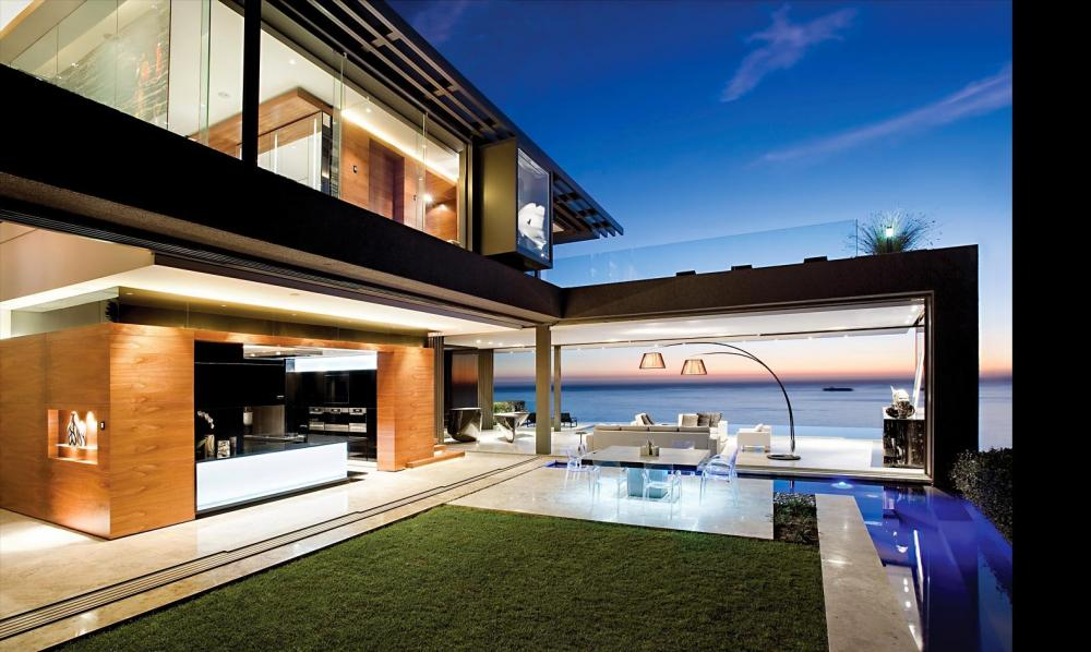 Modern house design with outdoor near the beach